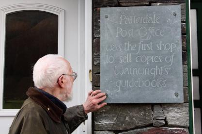Wainwright Plaque at Patterdale Post Office