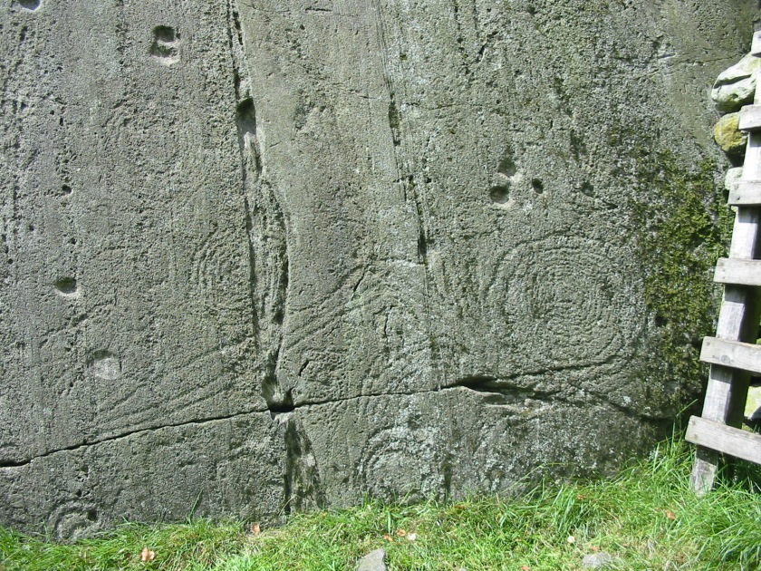 Complex carvings at Copt Howe, Chapel Stile, Great Langdale. Photo credit Kate Sharpe