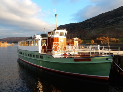 Lady Wakefield at Glenridding Pier. Credit Jane Firth.