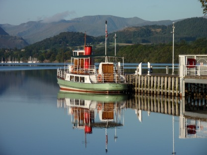 Western Belle at Pooley Bridge Pier. Credit Jane Firth.
