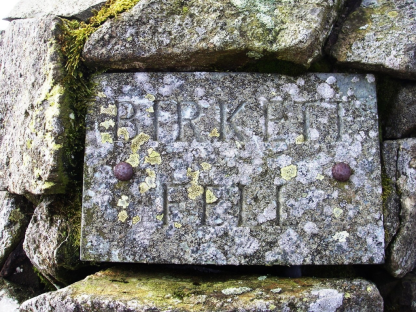 Birkett Fell plaque