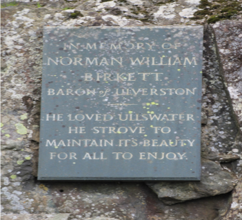 Plaque at Kalepot Crag