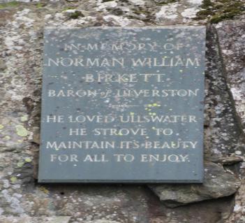 Plaque at Kalepot Crag